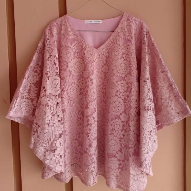 Brokat Kelelawar Dusty Pink Shopee Indonesia