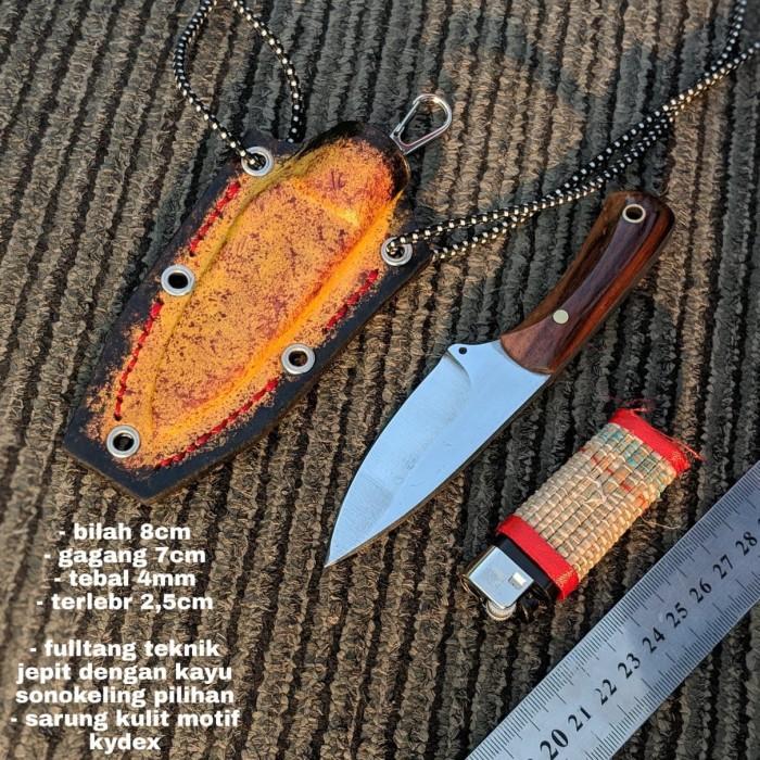 (STR45) Pisau Mini kalung survival keren