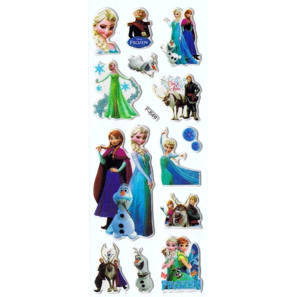 SK450 Stiker Sticker Timbul Set Strip Aneka Gambar Kartun Frozen
