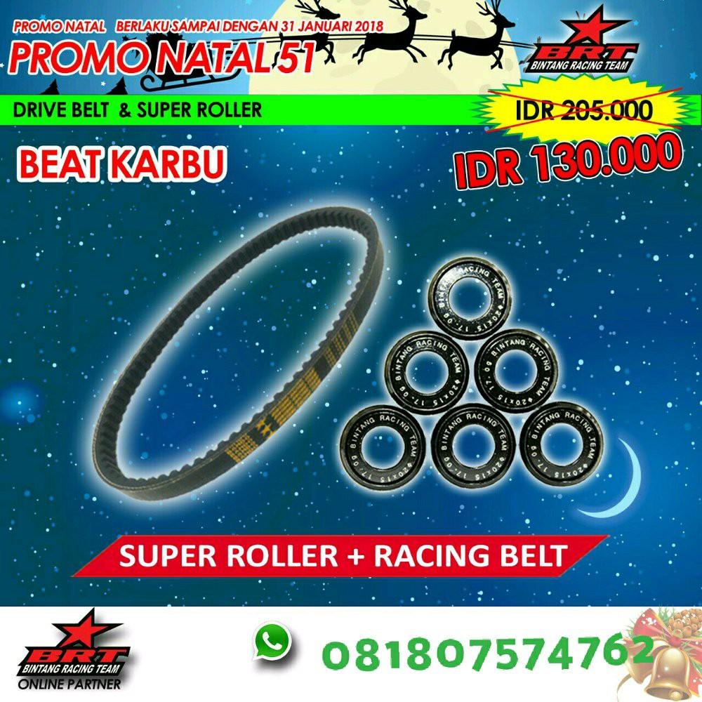 Harga Jual Cvt V Belt Kit Roller Honda Scoopy Karburator Ori Rumah Beat Karbu Spacy Baru Paket Racing Super Brt Terlaris