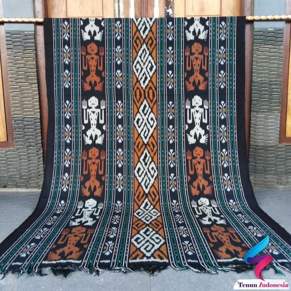 Tenun Ikat Blanket Etnik Kain Selimut Handmade Asli Tradisional Nusantara Bahan Baju ATAU ROK
