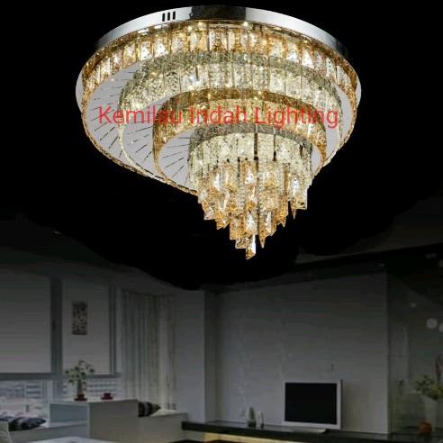 sl9299-60 lampu plafon hias kristal led minimalis ruang