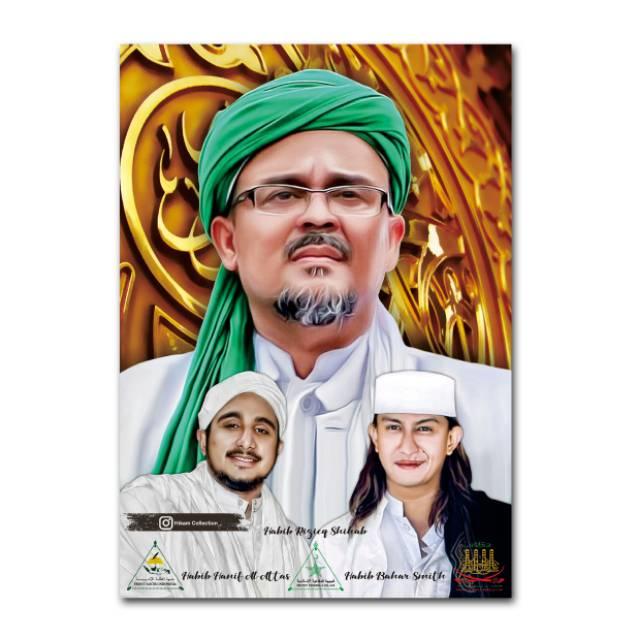 Poster Habib Rizieq Habib Hanif Habib Bahar Uk A3 Sudah Di Laminating Shopee Indonesia