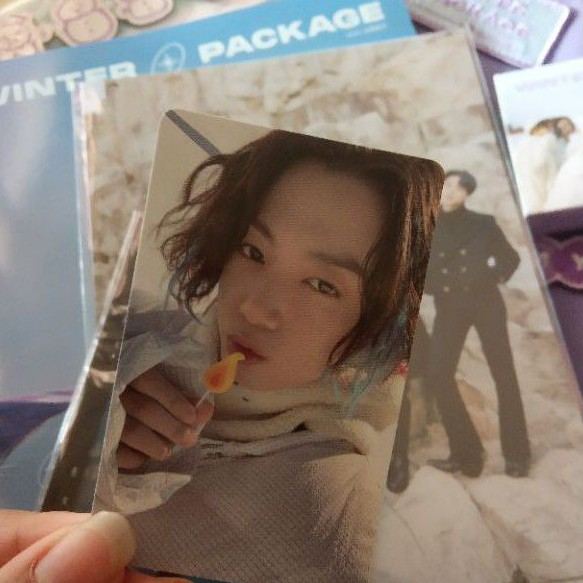 BTS WINTER PACKAGE 2021 SHARING PHOTOCARD POUCH WAPPEN