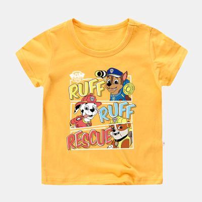 kaus lengan pendek motif kartun paw patrol bahan katun 10 warna untuk anak laki-laki | shopee