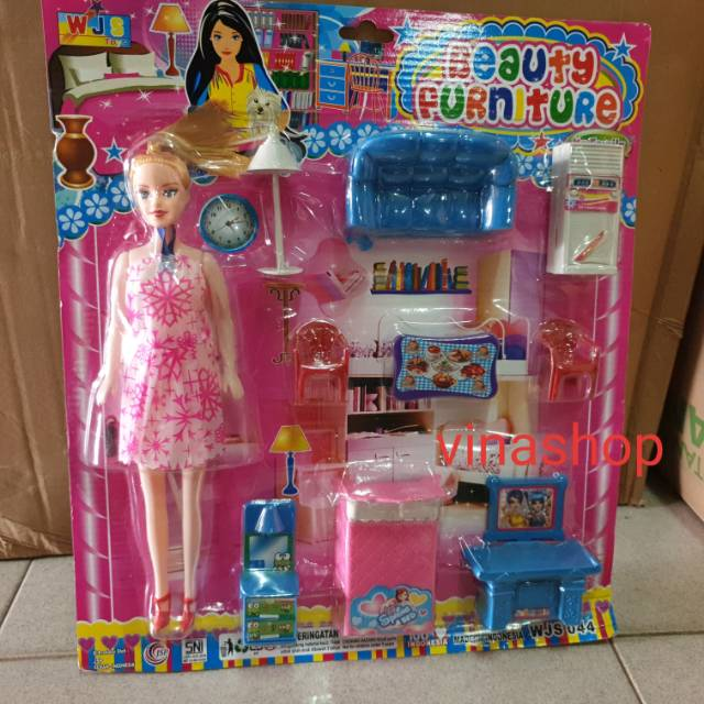 Mainan Rumah Rumahan Barbie Beauty Furniture Perabotan Rumah Shopee Indonesia