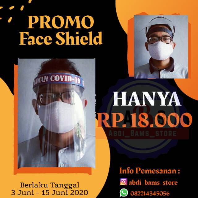 Face Shield Custom Nama Shopee Indonesia
