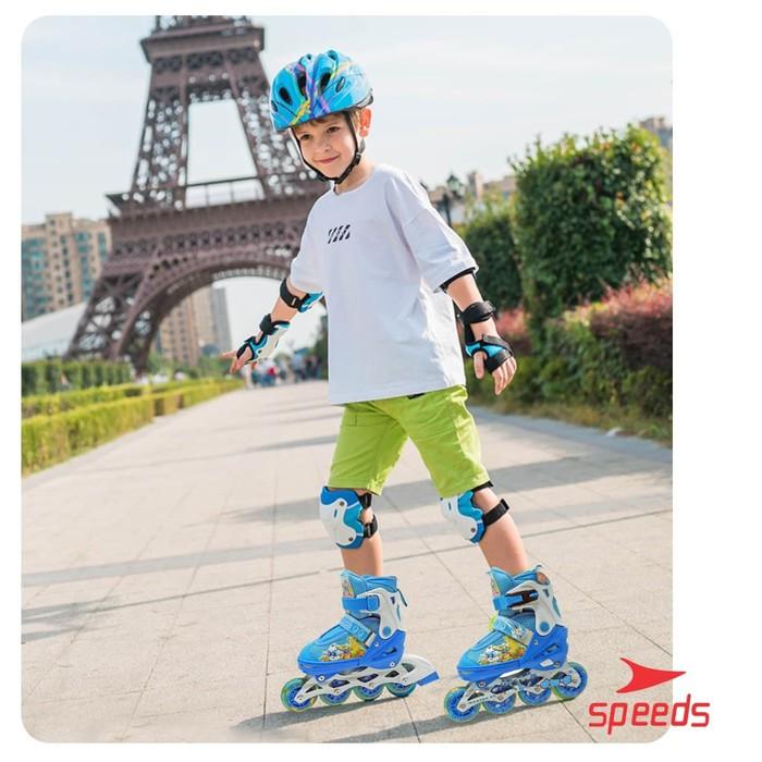 Promo Sepatu Roda Anak Dan Dewasa Inline Skate Full Karet Pu Nyala