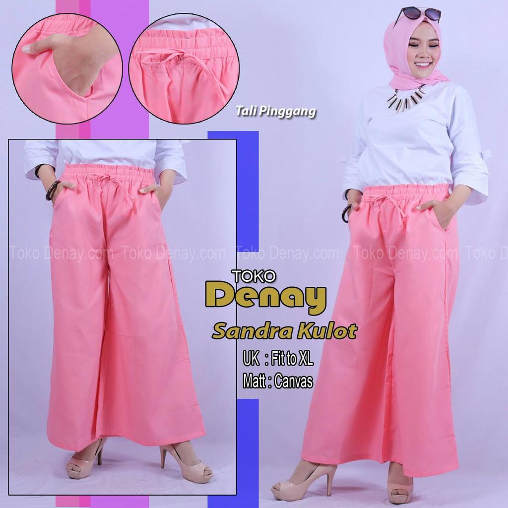 Kulot SANDRA best seller Celana panjang wanita KULOT LEBAR KEKINIAN ORI by tokodenay | Shopee Indonesia