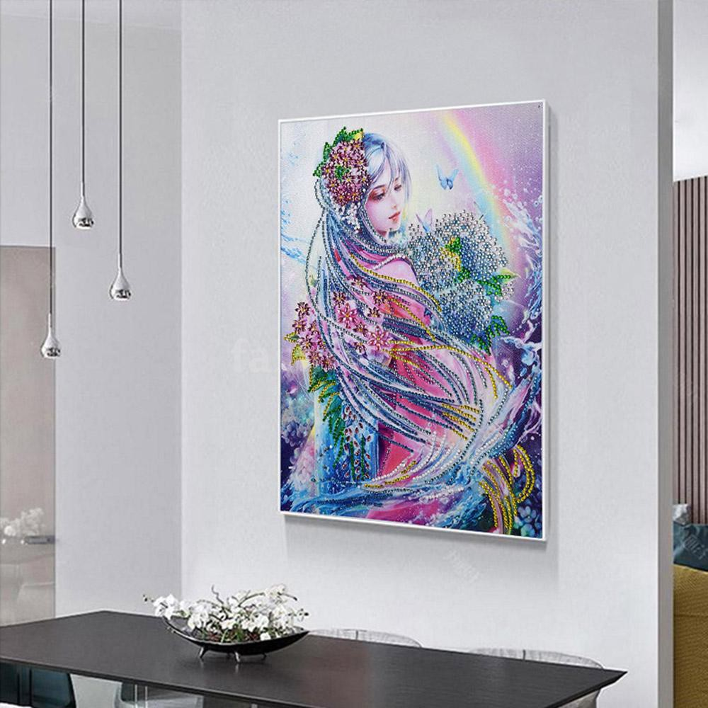 5D Diamond DIY Painting by Number Kits Full Drill Crystal Rhinestone Embroidery Pictures Arts Craft for Home Wall Decor Gift Castle scenery, 11.8x15.7inch