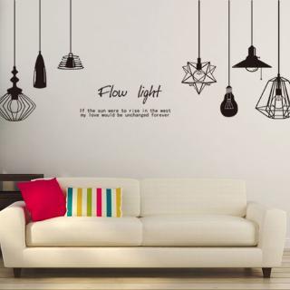 eropa kreatif stiker dinding hitam ruang tamu kamar tidur