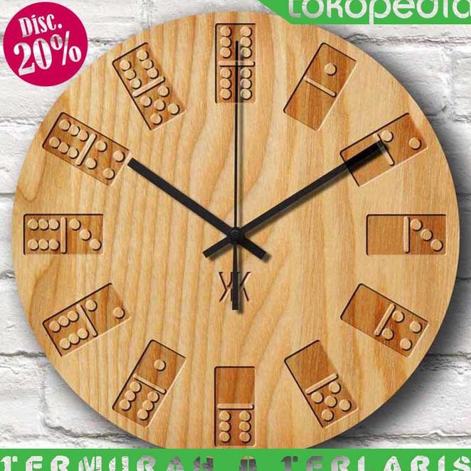 12cm Vintage Colorful Style Round Digital Wood Wall Clock(White) - intl. Source