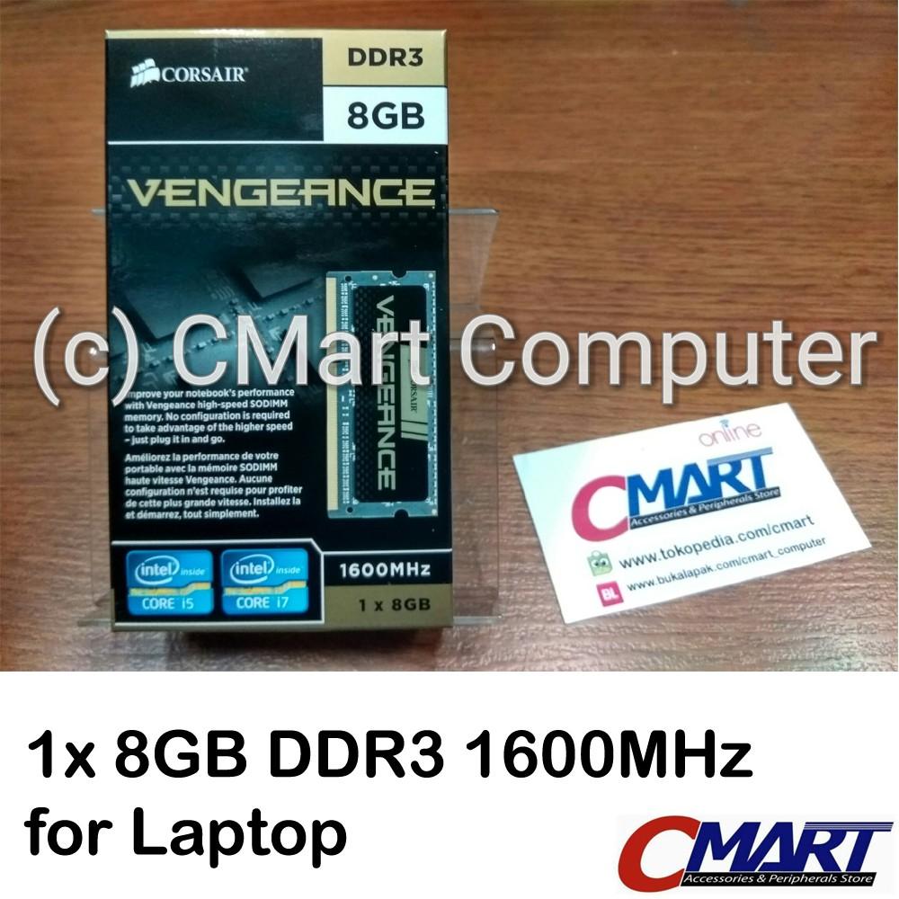 Corsair Vengeance 16gb Ddr3 1600mhz Memory Sodimm V Gen Platinum 2gb Pc12800 Cmsx16gx3m2a1600c10 Shopee Indonesia