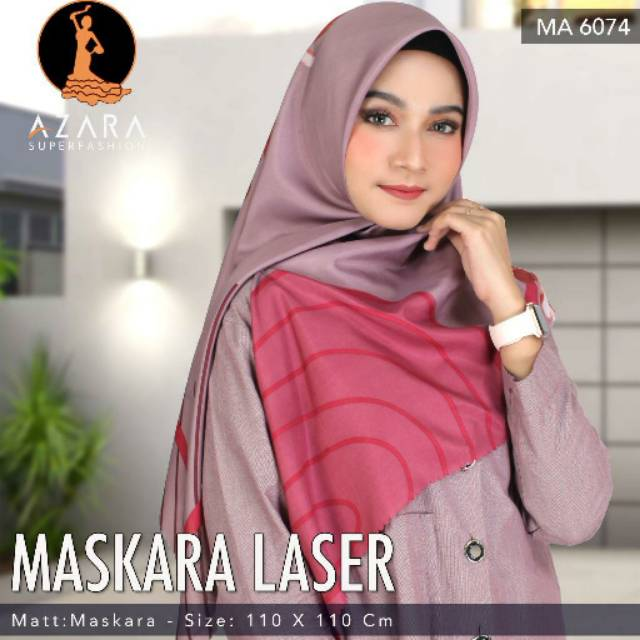 Hijab Segiempat Motif Azara Tepi Laser Terbaru Terlaris Jilbab Segiempat Laser Motif Azara Shopee Indonesia
