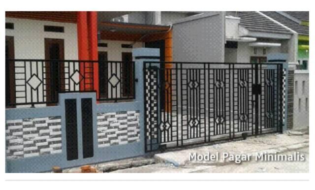 Pagar Besi Hollow Galvanis Minimalis Dan Alferon Classic Modern Mewah |  Shopee Indonesia