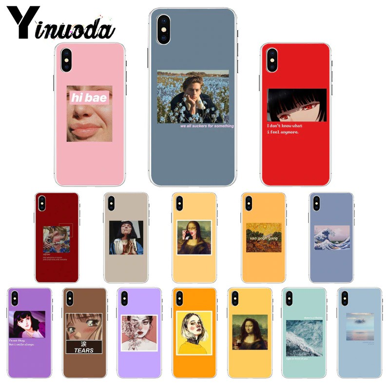 Yinuoda Great Art Aesthetic Van Gogh Mona Lisa Painting David Tpu Phone Case Cover For Iphone 8 7 6