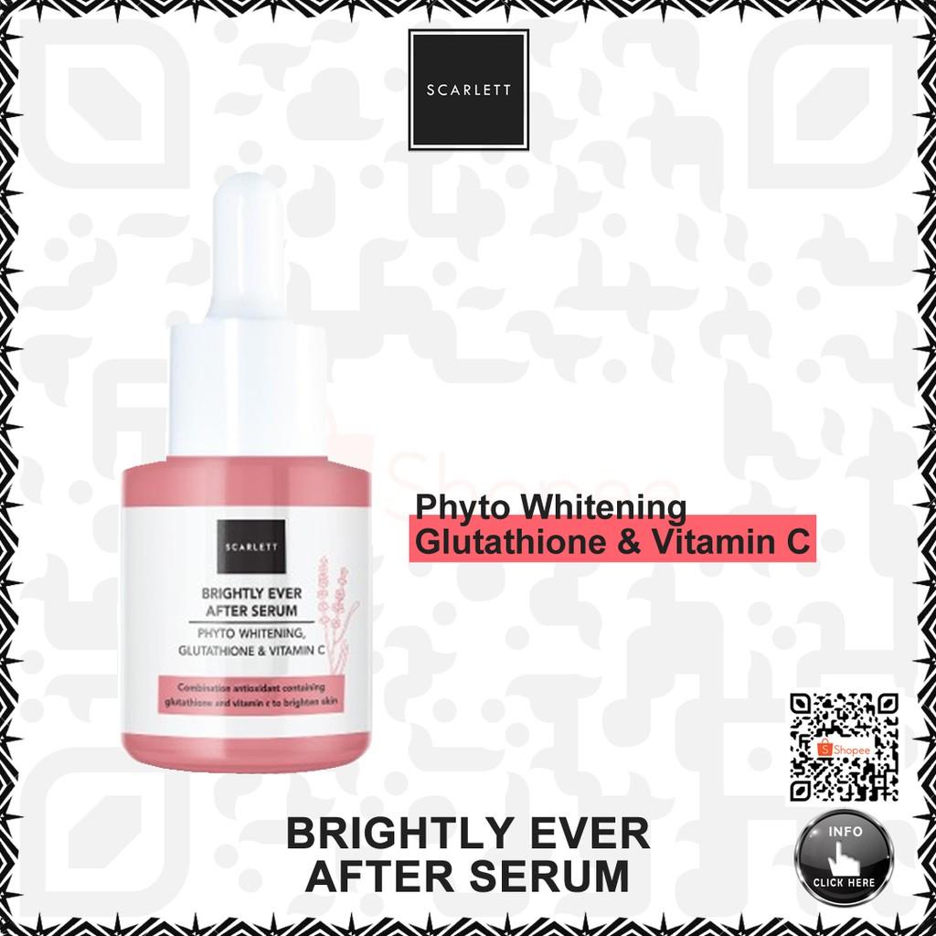 scarlett scarlet whitening brightly ever after serum 15ml