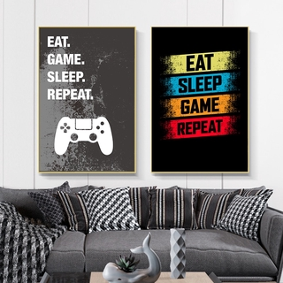 Video Game Wall Art Canvas Posters Prints Gaming Room Decor Party Art Pictures Boys Room Wall Decor Unframed Shopee Indonesia