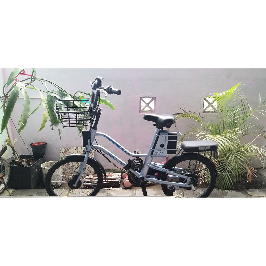 SPESIAL PROMO PUNCAK SERU Sepeda Listrik Selis EOI Bekas Normal Like New gratis Ongkir