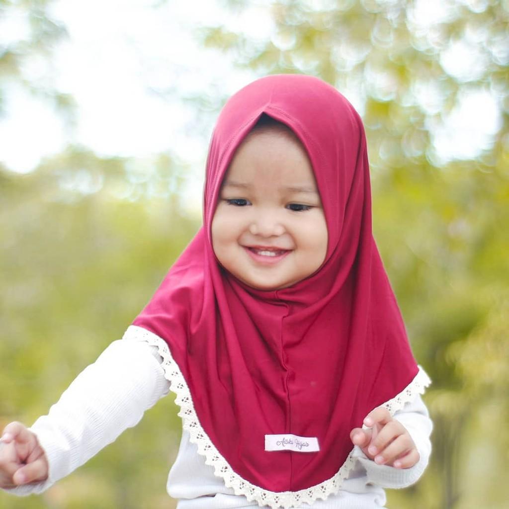 Aiska Hijab Jilbab Anak Newborn 5 Tahun Kerudung Anak Anak Perempuan Shopee Indonesia