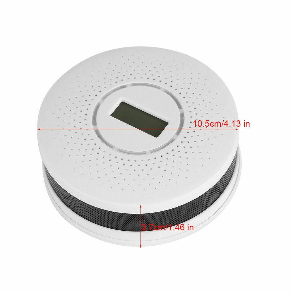Smoke Carbon Monoxide Detector Lcd Screen Sound Warning High Sensor M5 Shopee Indonesia