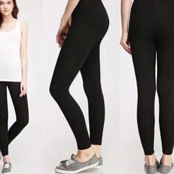 Paling Laku Legging Polos Hitam Legging Wanita Legging Jersey Shopee Indonesia