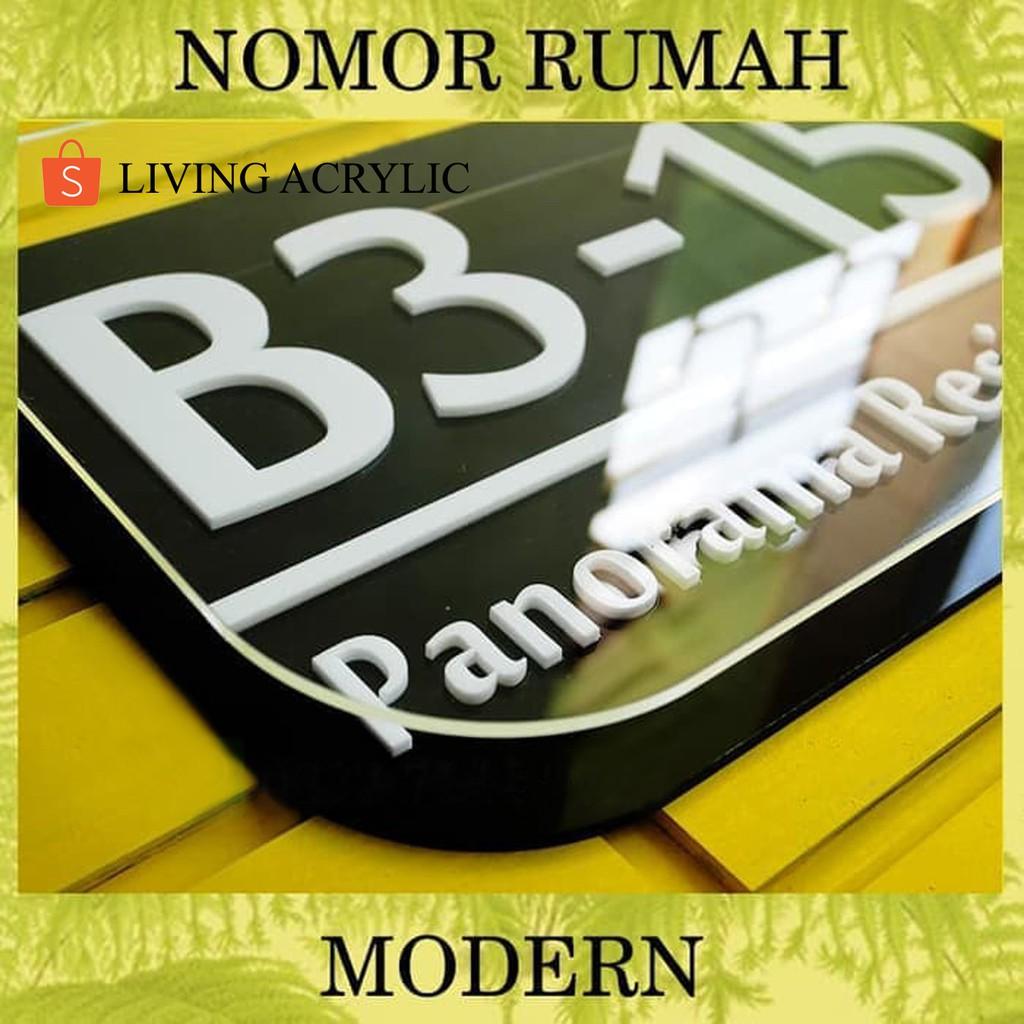 BEST SELLER Nomor Rumah Acrylic 3 Lapis Warna Timbul ...