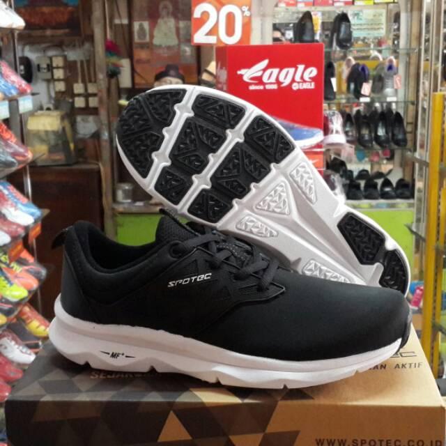 Sepatu Running Jogging SPOTEC | Liquid | Black White