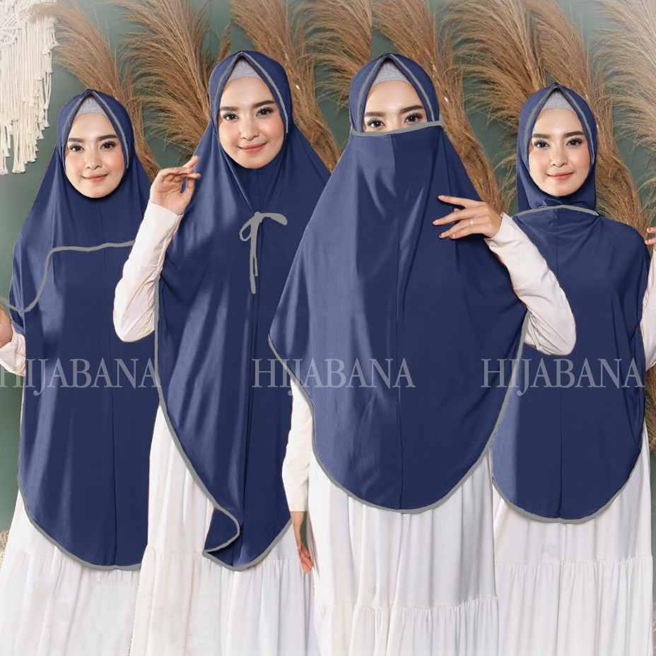 Khimar Instan Syari 1111 in 11 XL JUMBO / Kerudung Masker Bergo Jumbo / Jilbab  Cadar Besar XL
