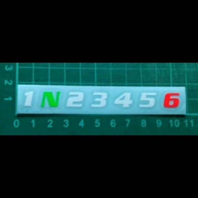 Sticker cutting logo gear 1N23456