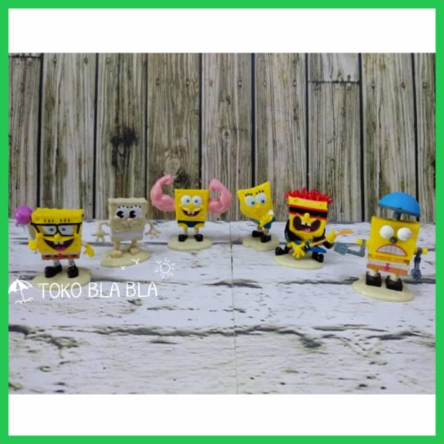Mainan Boneka Figure Spongebob Squarepants Cake Topper Hiasan Kue
