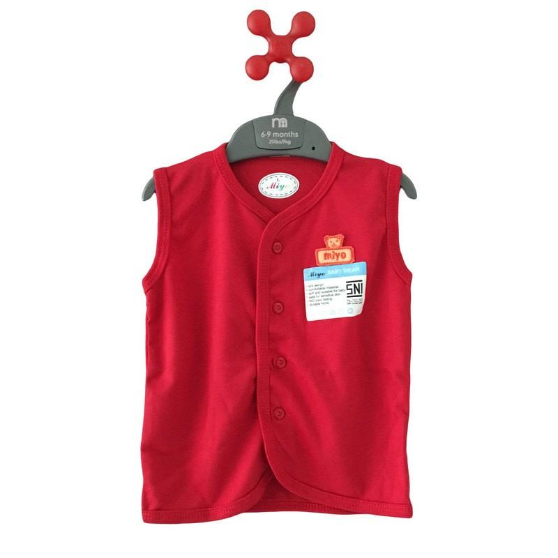 MIYO RED Pakaian Bayi Setelan Baju Pendek + Celana Pendek Warna Merah S M L | Shopee Indonesia