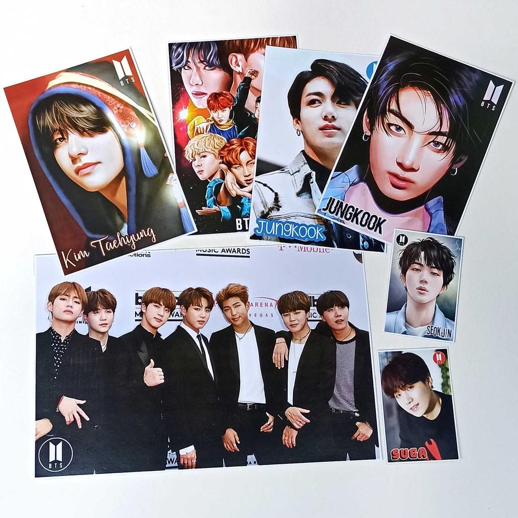 Foto Photocard Bts Dynamite Bangtan Boys Polaroid Jungkook Kim Taehyung Suga Seok Jin Shopee Indonesia