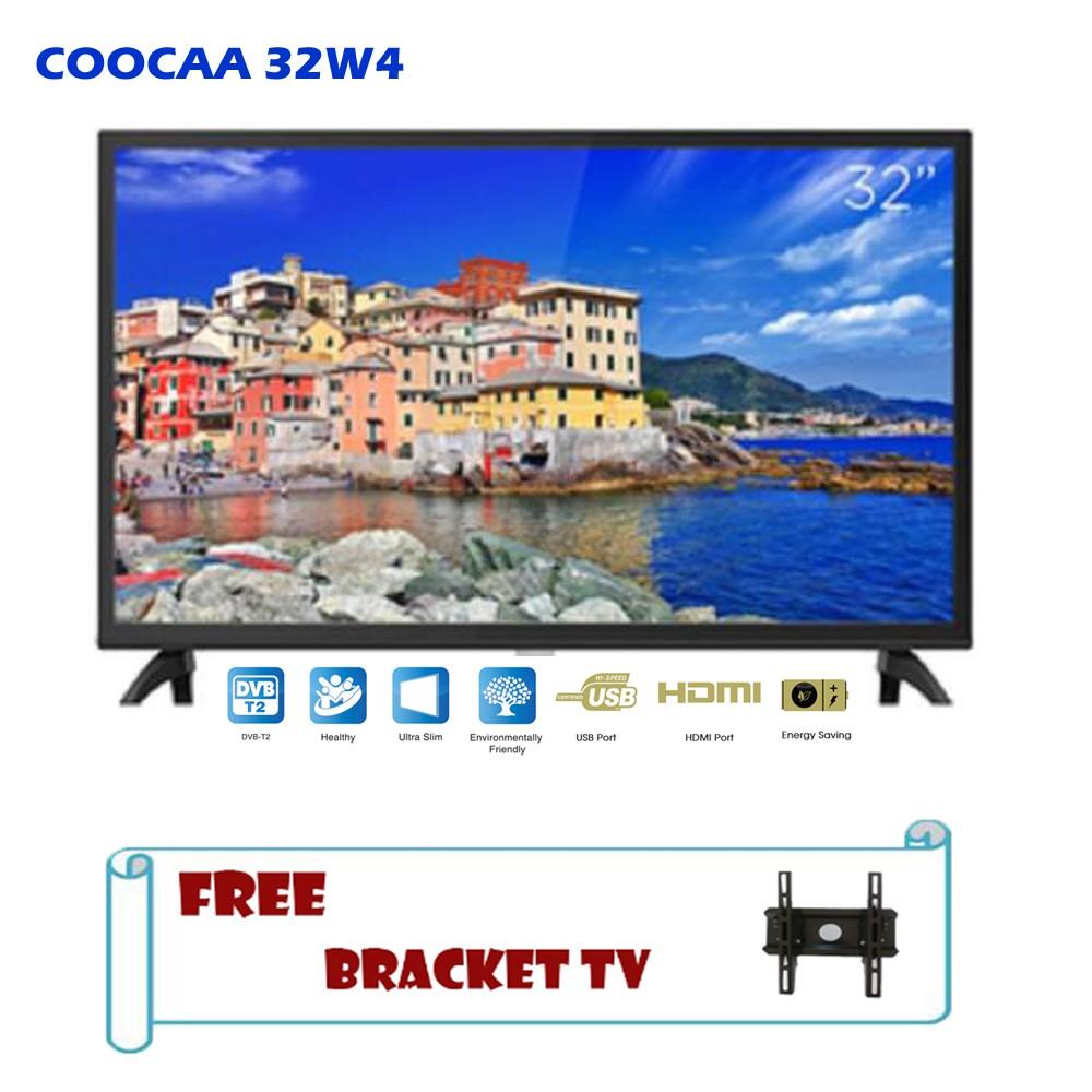 Coocaa LED TV 32 Inch Digital 32W4 Free Bracket