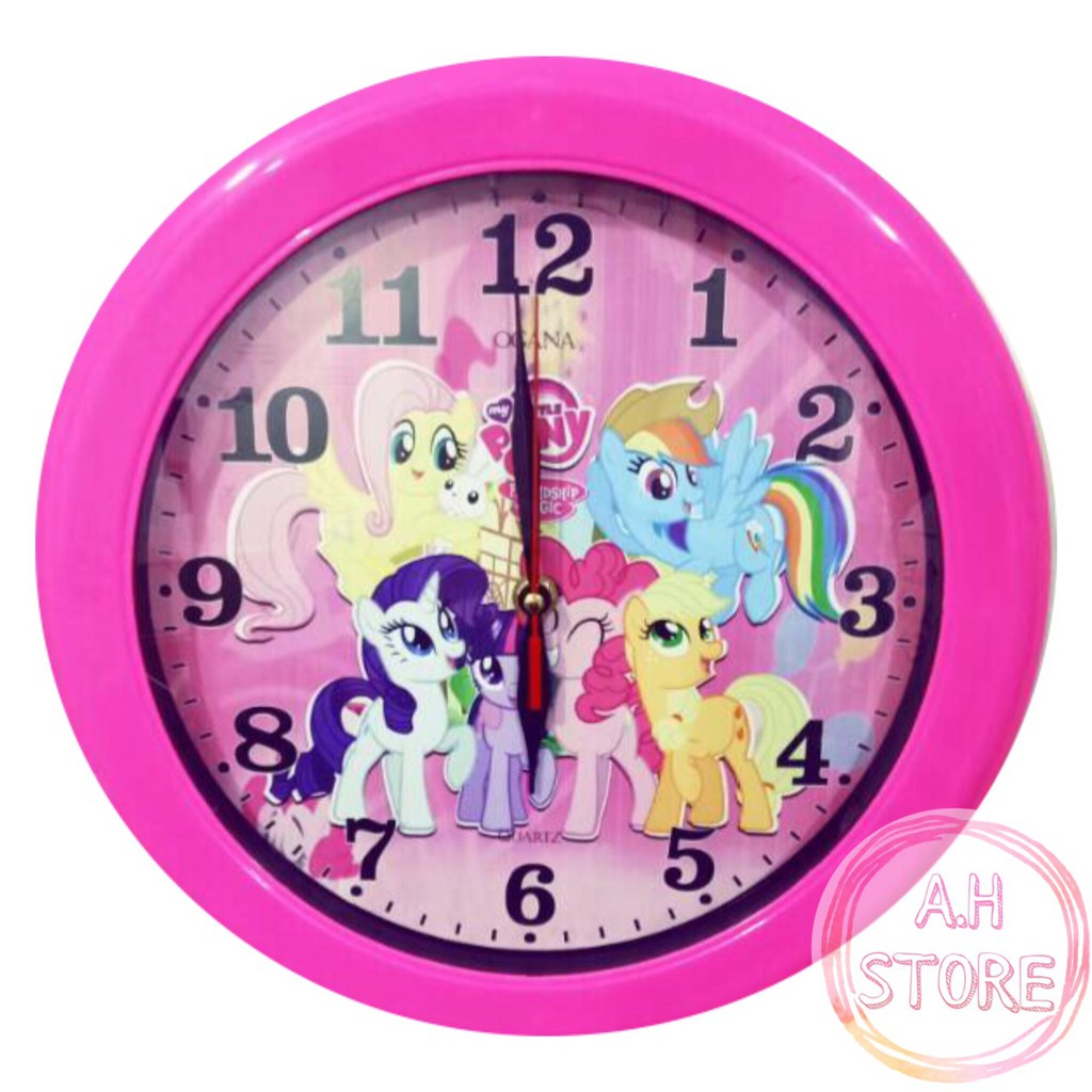 Jam Dinding Little Pony Kuda Poni Kartun Pink Wall Clock Diameter 30 Cm Shopee Indonesia