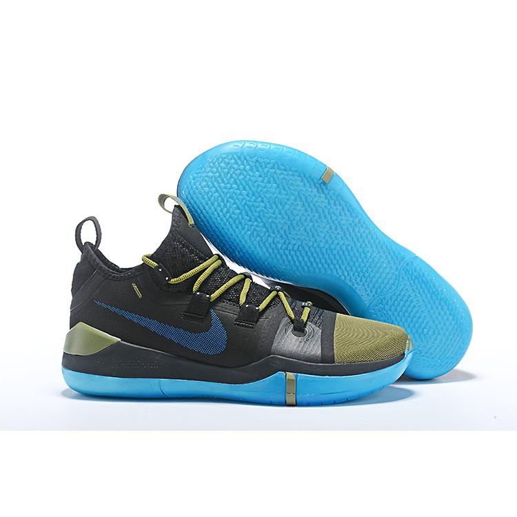 Sepatu Sneakers Desain Nike Kobe Ad Exodus Warna Emas Hitam Biru Shopee Indonesia
