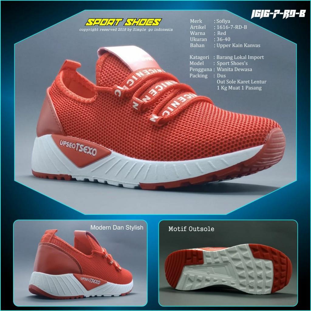 Sepatu Sneakers Wanita 1800 3b Import 36 40 - Daftar Harga ... 1104472562