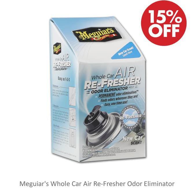 Car Odor Eliminator >> Pr0m0 Di5k0n Meguiars Meguiar S Whole Car Air Re Fresher Odor Eliminator New Car Termurah