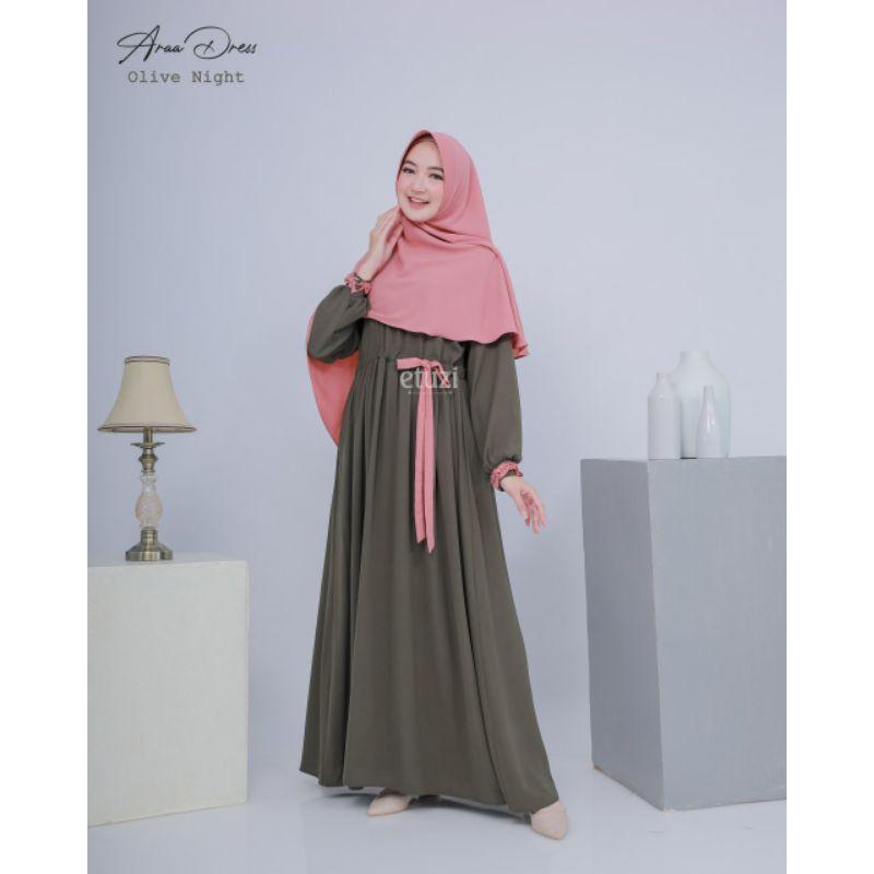 Gamis syar'i Ara dress by etuzi (wolly crepe)