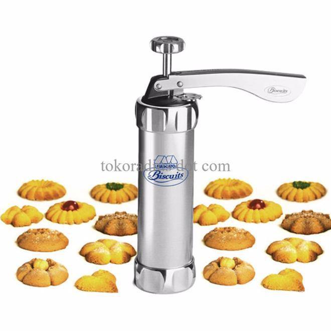 sale cetakan biscuit dan kue kering Stainless marcato Atlas cookies press | Shopee Indonesia