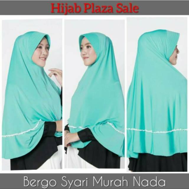 Bergo Syari Murah Zoya Bergo Nada Light Tosca Shopee Indonesia