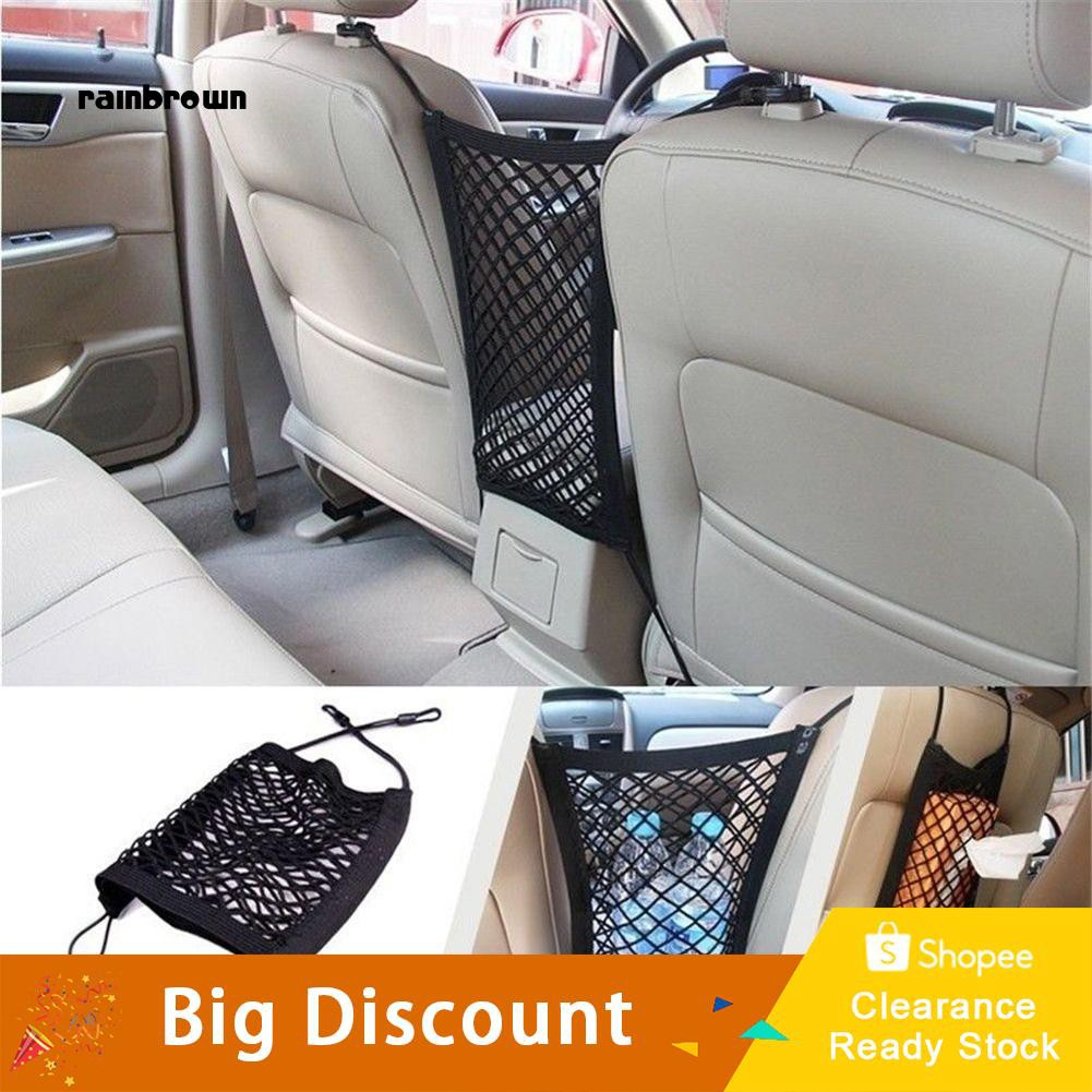 Truck Seat Organizer >> Rb Universal Elastic Car Truck Seat Mesh Storage Net Bag Organizer Holder Pocket