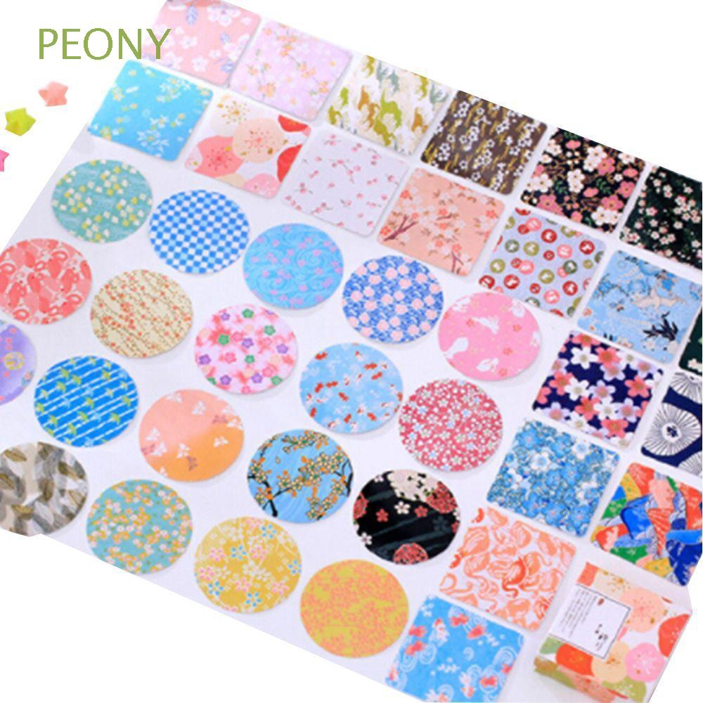 40 PCs//lot Label Scenery Paper Stickers Color Of The Flowers Scrapbooking