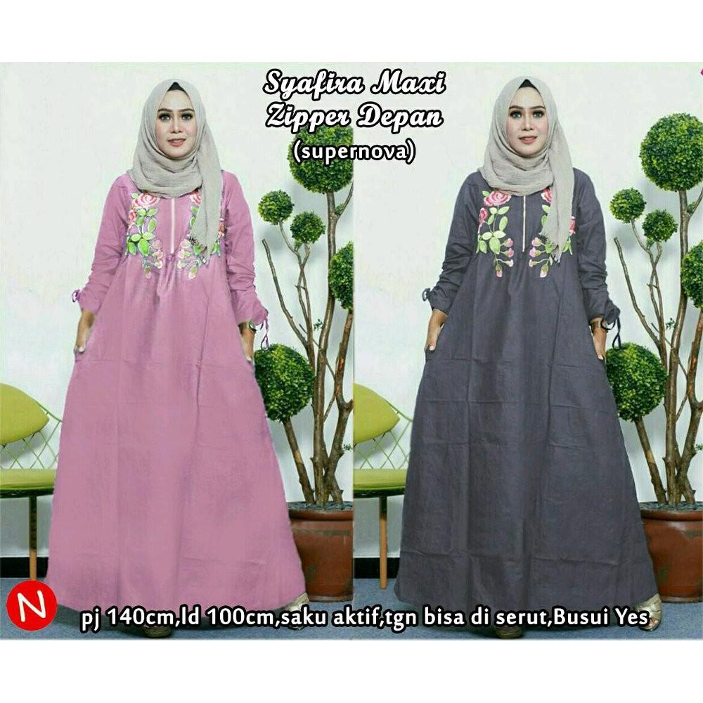 Dapatkan Harga gamis syari Hijab Atasan Muslim Diskon  14f4312935