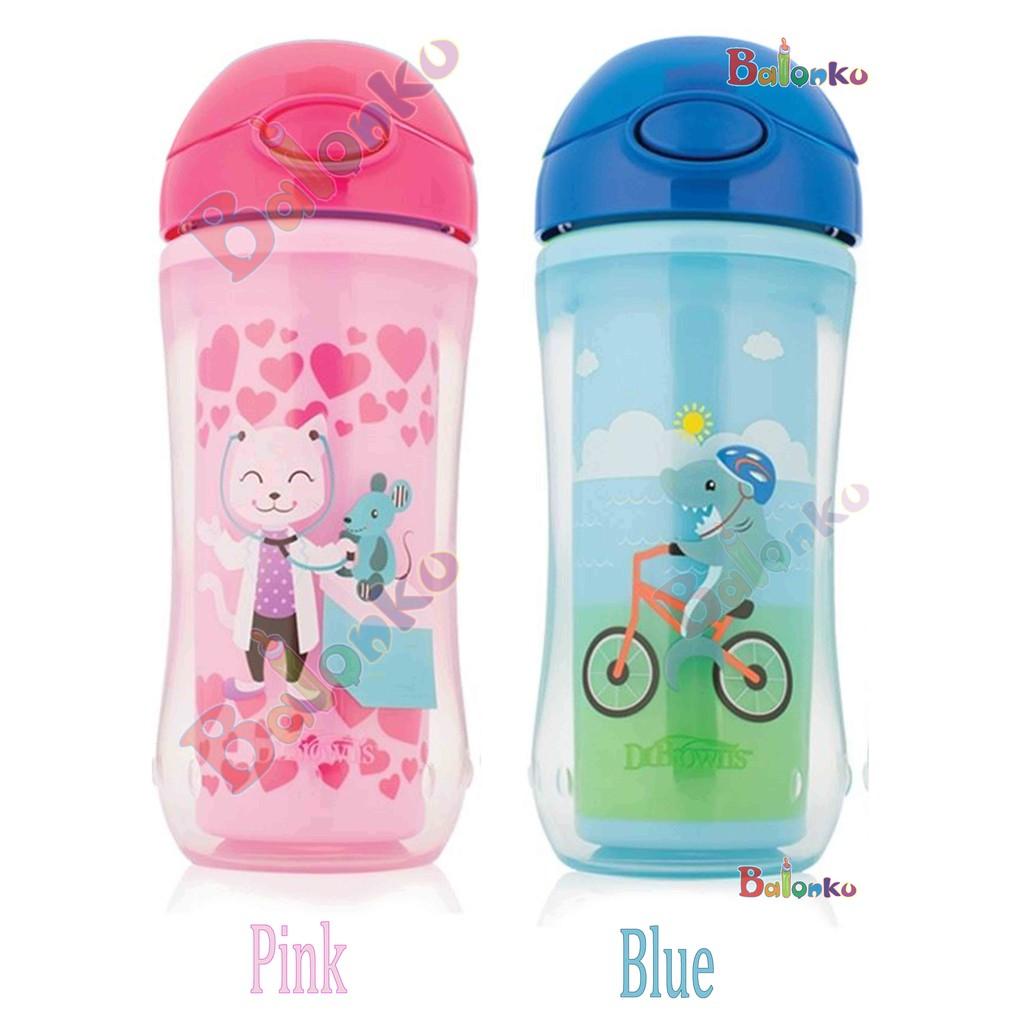 Disney Baby Training Cup Straw Bottle Botol Minum Sedotan With And Handle Ninio Anak 300ml Shopee Indonesia