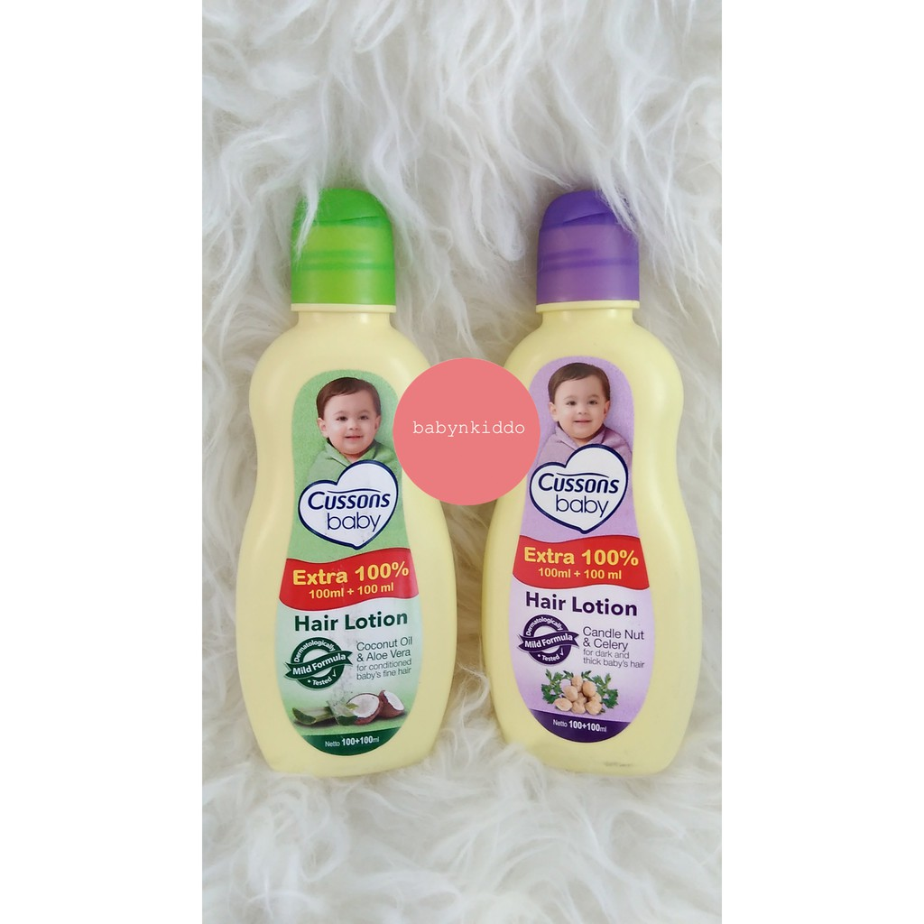 50ml Cussons Hair Lotion Extra 100 Shopee Indonesia Baby Candlenut Oil Celery Ml