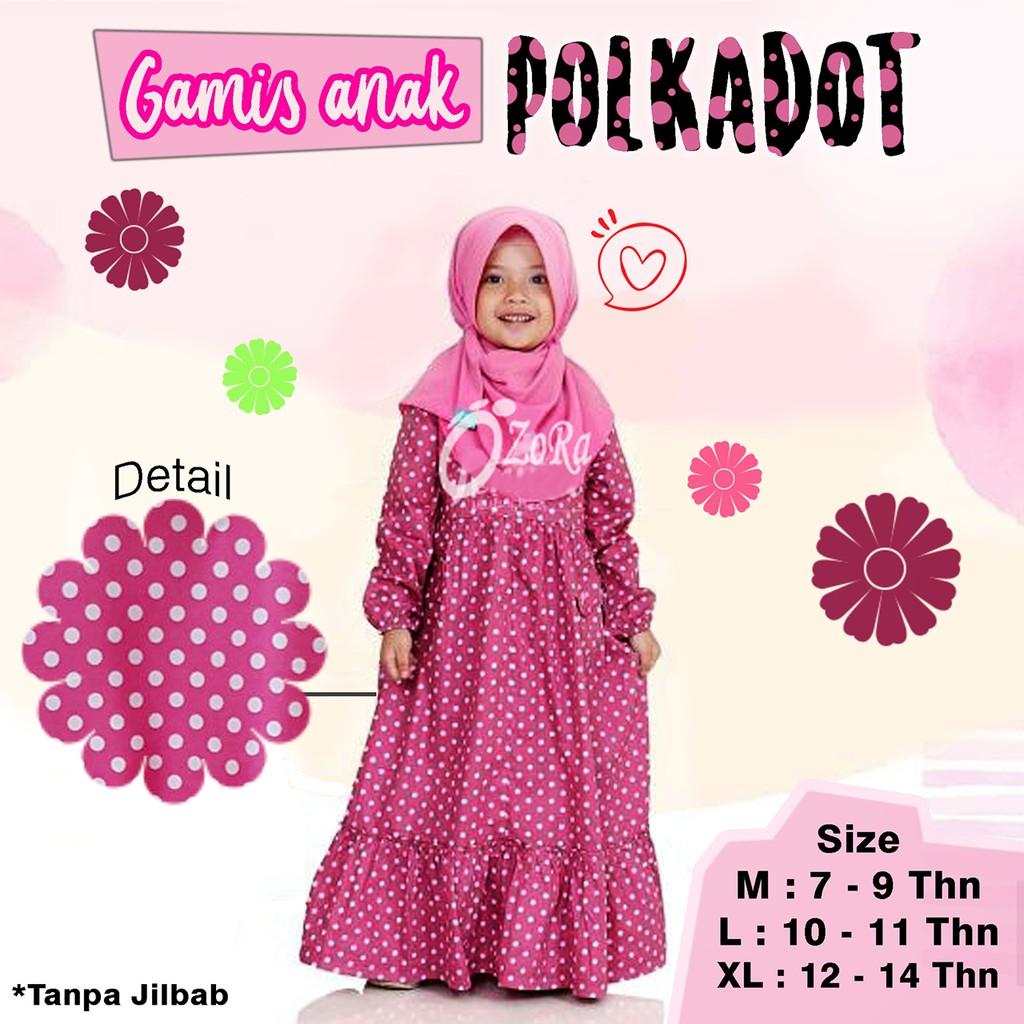Motif Polkadot Pink Pakaian Anak Muslimah Shopee Indonesia