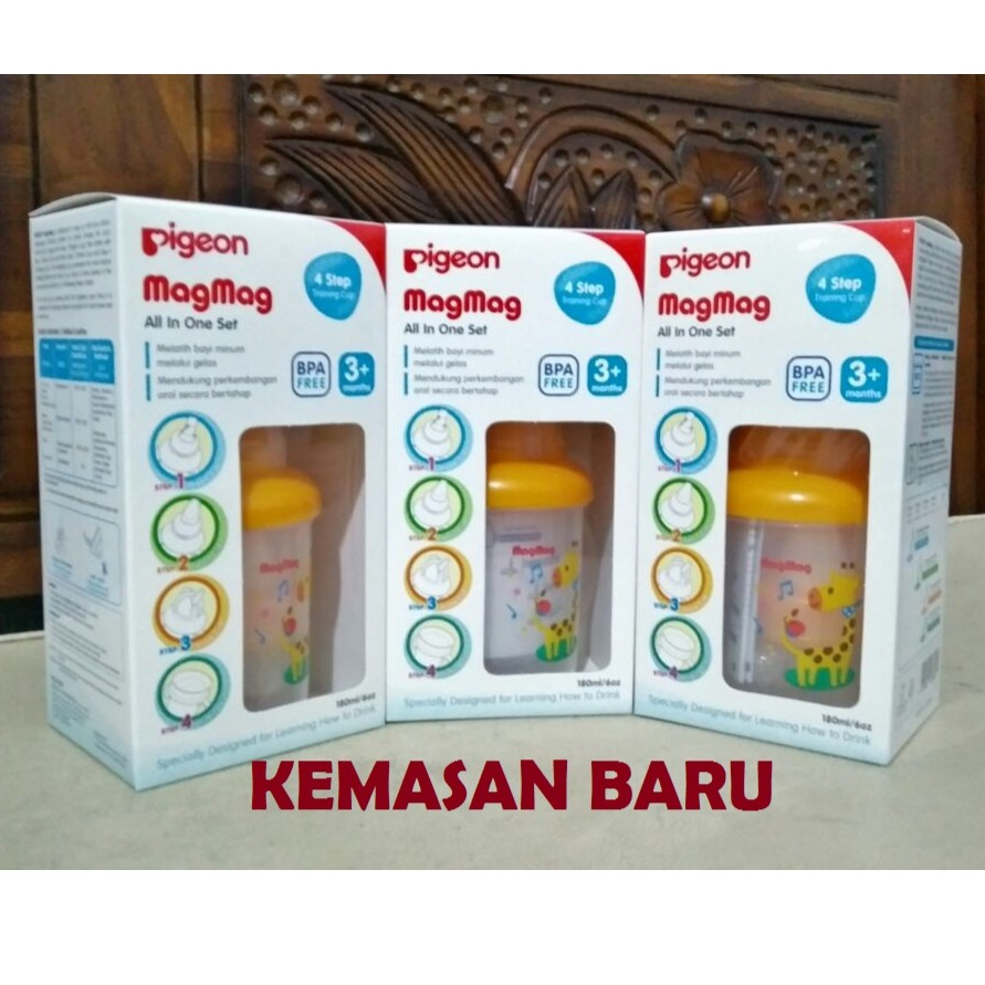 Pigeon Magmag Kemasan Baru Mag All In One Set Training Cup Step 1 Sd 4 3m Shopee Indonesia