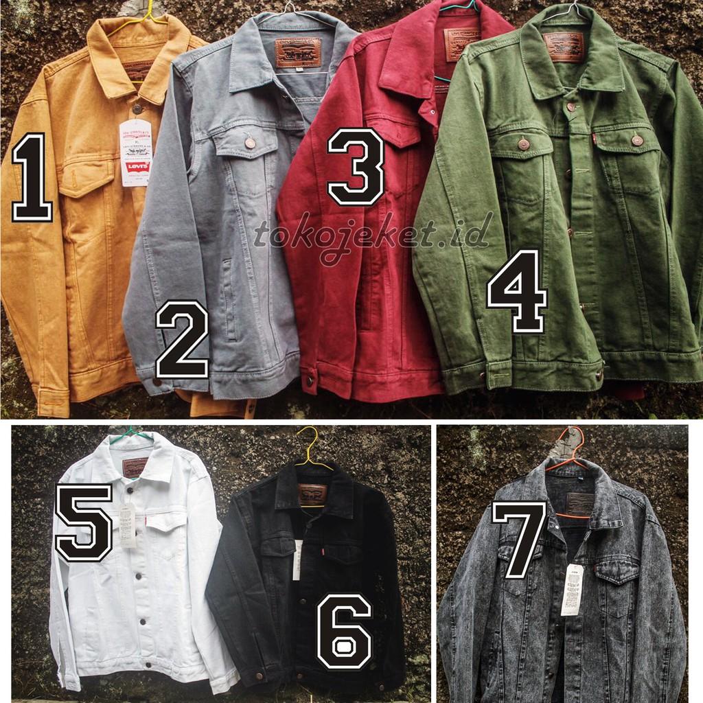 Jaket Levis Jeans Pria Bioblitz Biowash Maroon Coklat Tua Sandwash Jean Biru Jak 2044 Hijau Army Putih Hitam Abu Shopee Indonesia