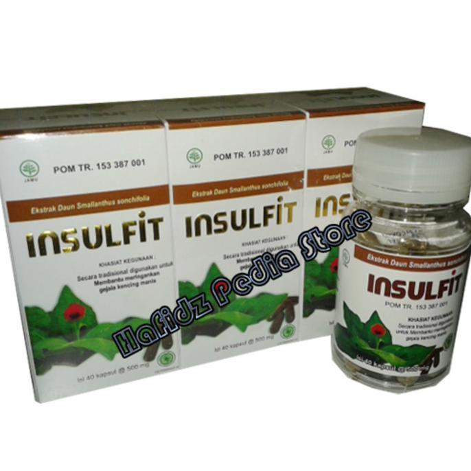 Insulfit Kapsul Ekstrak Daun Insulin | Obat Diabetes Kencing Manis | Shopee Indonesia